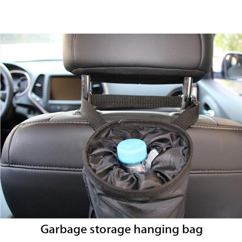 Car Trash Bin Portable Garbage Storage Hanging Bag For Jeep Renegade Wrangler Audi A3 A4 B6 B8 Kia Rio Ceed Accessories