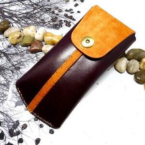Blongk vertical universal feito à mão couro genuíno bolsa do telefone cintura pacote cinto saco para iphone samsung huawei xiaomi oppo vivo