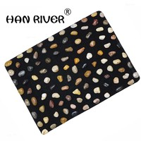 Piedras naturales para masaje de pies, acupuntura para el cuidado de la salud del pie, estera de piedra para pedicura, manta masajeadora, 40x50 cm