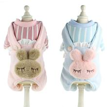 Cute Rabbit Fleece Dog Clothes Coat Jacket Pet Clothes Pets Clothing Chihuahua Costume Pet Clothing For Dogs Costume(China)