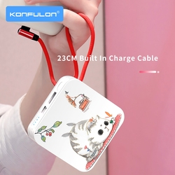 10000 Mah Power Bank Cute Power Bank For Mobile Phone External Battery 10000 mAh Slim Powerbank For iPhone12 Xiaomi Huawei