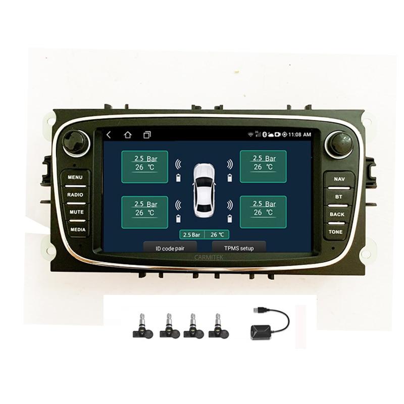 2din Android lecteur DVD de voiture 2 Din radio GPS Navi pour Ford Focus Mondeo Kuga C-MAX S-MAX Galaxy 2005-2011 Audio stéréo unité de tête