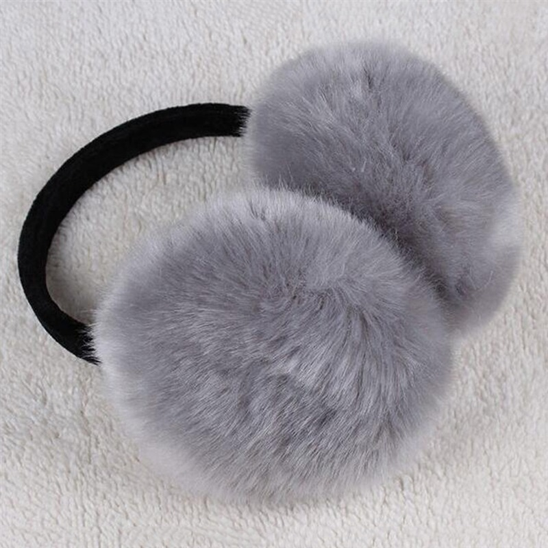 2018 Winter Earmuff Imitation Rabbit Women Fur Earmuffs Winter Ear Warmers Large Plush Girls And Boys Ear Warmers Earmuffs