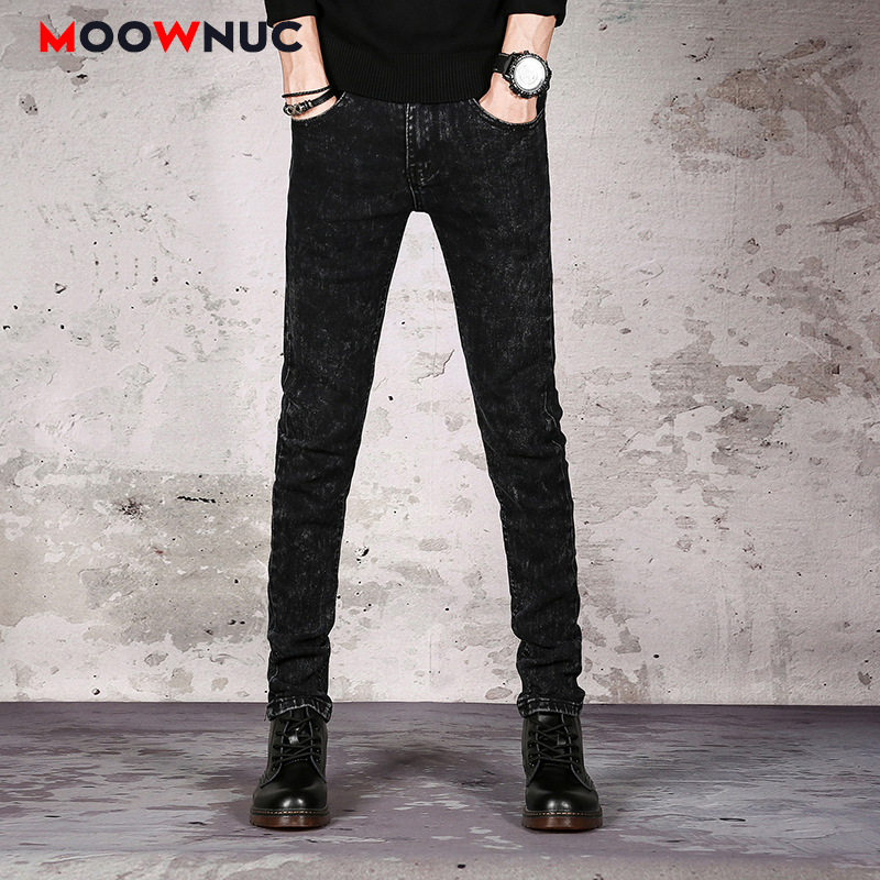 Sweatpants Streetwear Hip Hop Elastic Jeans For Men Denim Trousers Jeans Casual Pants Autumn Male Solid Slim Designer Straight