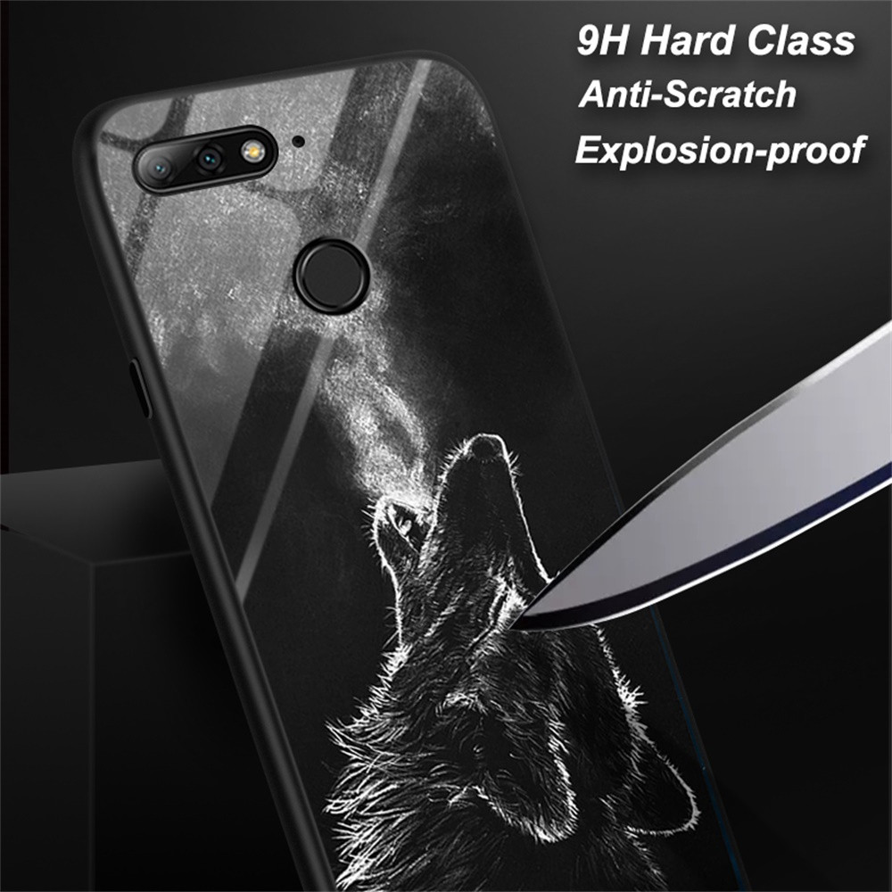 Case For Huawei <font><b>Honor</b></font> 20 Pro 8 8a <font><b>9</b></font> <font><b>Lite</b></font> Note 10 Play 9i 6x 7x 8x Max View 20 Case <font><b>Cover</b></font> Tempered Glass Funda Coque Back <font><b>Cover</b></font> image