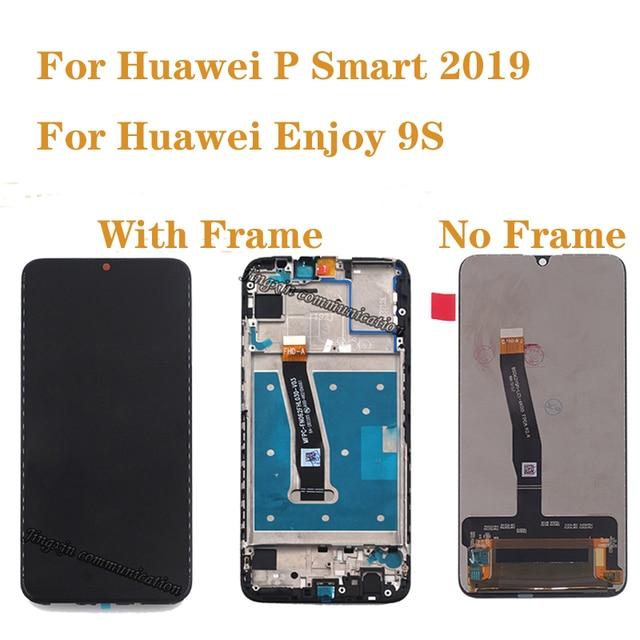 AAAคุณภาพสำหรับHuawei P 2019จอแสดงผลLCD Touch Digitizer AssemblyสำหรับPสมาร์ท2019 POT LX1 L21 LX3 LCD