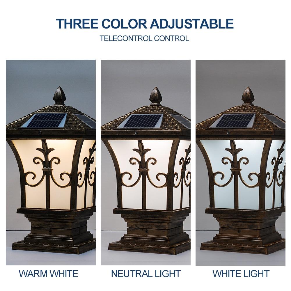Telecomando 10W Lanterna Luce Solare Del Giardino Lampada di Ferro IP65 Impermeabile 3 Cambiamento di Colore per Esterno Cortile Uso Dingdian led - 4