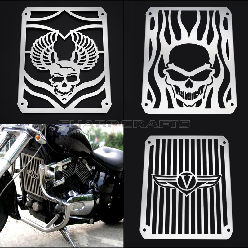 Top Quality Radiator Grill Cover Guard Protector Water Tank Cooler Cover For Motorcycle Kawasaki VULCAN VN400 VN800 VN 400 800