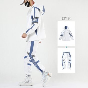 Tracksuit for Men Two Pieces New Fashion Polyester Hoodie and Pants Men Spring Set Tracksuit Man 3xl Jogger Jacket Winter HH50TZ