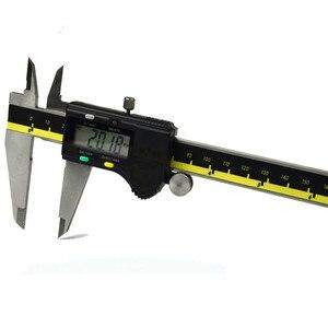Image 5 - 150mm 200mm 300mm origem modo digital pinça de aço inoxidável eletrônico vernier caliper schieber caliper micrômetro + caixa