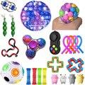 Игрушки Figet антистресс, набор игрушек, эластичные струны, мраморный подарок для взрослых, девочек, детей, сенсорные антистрессовые игрушки-а...