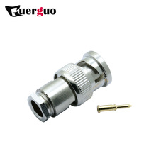 100pcs Male Plug Connector Clamp Type BNC RG58/RG59/RG6 for CCTV Security Coax Coupler Video BNC Connector Adapter
