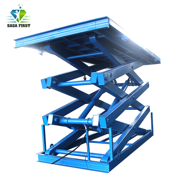 4000kg Heavy duty stationary electric scissor lifting table with CE