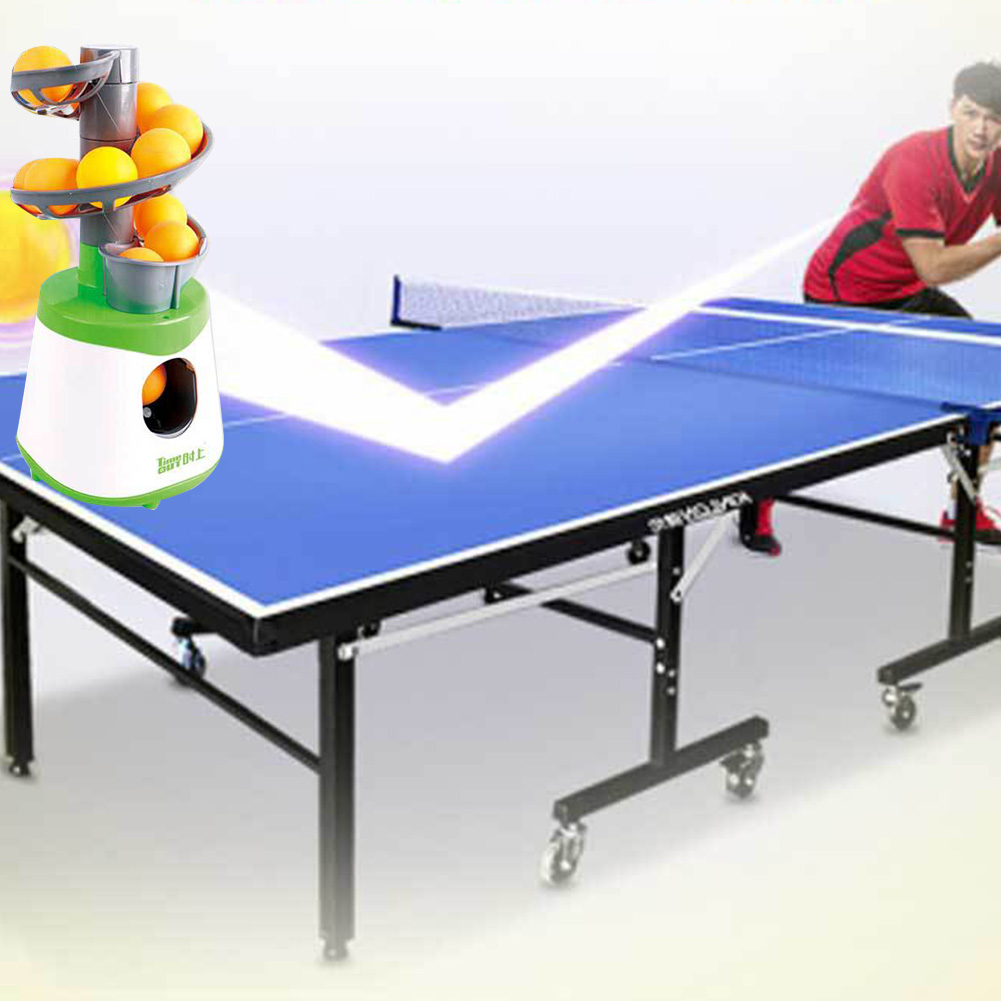 Table Tennis Pitcher Trainer Automatic Outdoor Portable Accessories Kids Children Pong Launcher Battery Powered Ball Machine