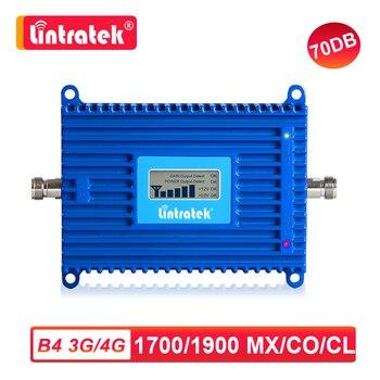 Lintratke AWS 1700/2100 МГц UMTS 3g LTE 4G усилитель сигнала Сотовый мобильный телефон усилитель 1700 МГц Интернет репитер голоса 70 дБ dj