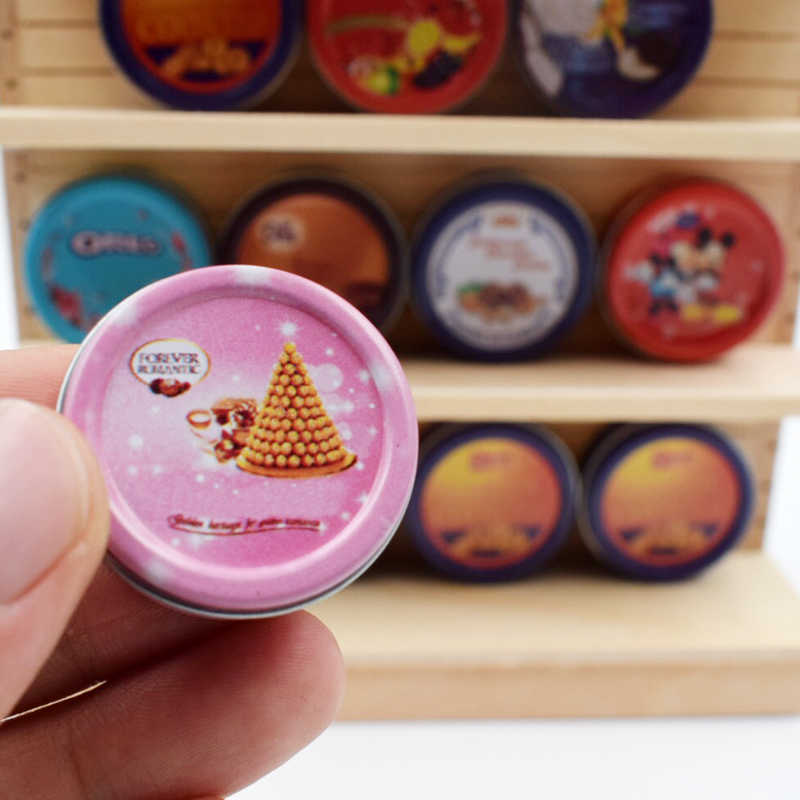 1PCS 1/6 ตุ๊กตาขนาดเล็กขนาดคุกกี้อาหารกล่อง MINI ช็อกโกแลต Blyth ตุ๊กตาอาหารสำหรับ Barbies ตุ๊กตา BJD ตุ๊กตาของเล่น