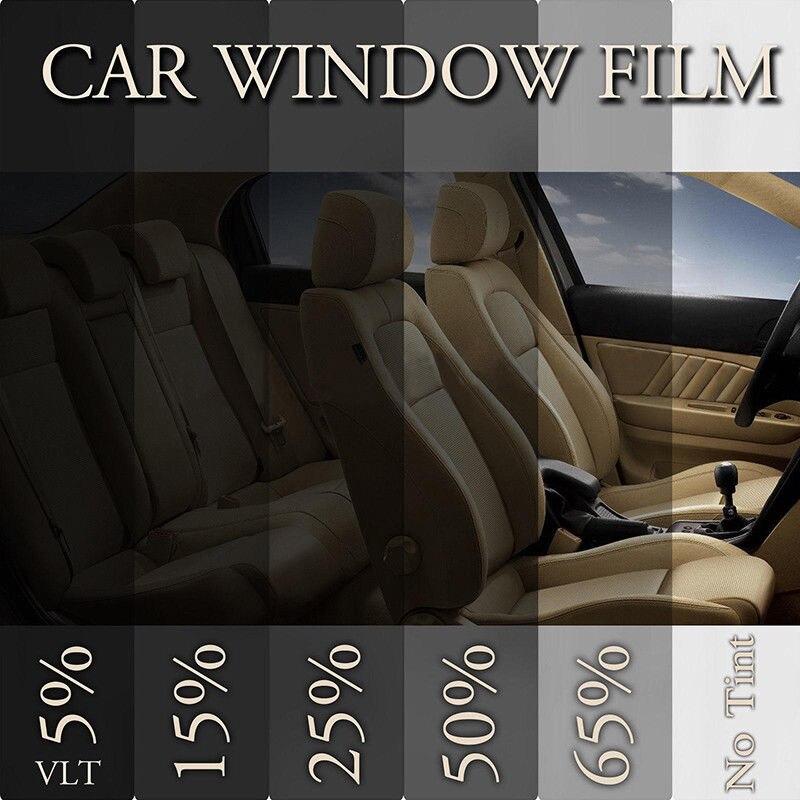 유니버설 50x100cm 15% VLT 블랙 색조 자동차 필름 유리 새로운 착색 실용 자동차 캠퍼 밴 보트 accessiries