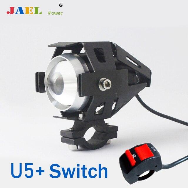 Lámpara brillante, focos led para motocicleta, U5 DRL, focos de conducción para motocicleta, barra de luces led, lámpara de 12V 125W, luz LED brillante
