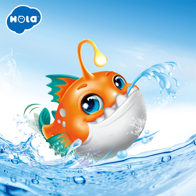 HOLA 8103 Baby Toys Baby Shark Battery Powered Sing And Swim Bath Toy For Toddlers Kids Bathtub Toy For Bathroom For Boys Girls