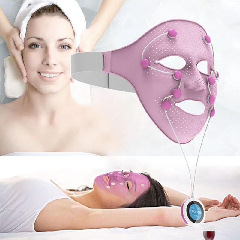 NEW Electric EMS Vibration Beauty Massager Anti-wrinkle Magnet Massage Facial SPA Face Mask Chin Cheek Lift Up Slimming Machine