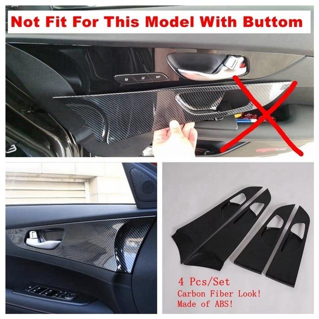 Lapetus Inner Door Pull Handle Bowl Decoration Panel Cover Trim Fit For Kia Forte / Cerato / K3 2019 2020 ABS Carbon Fiber Look 2