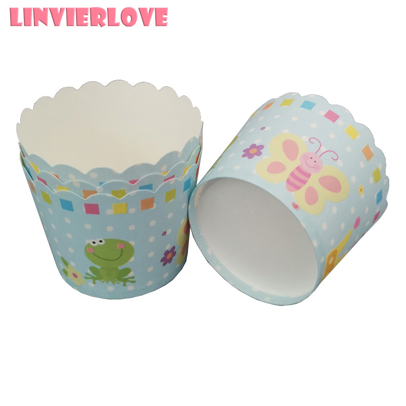 50pcs Striped Cupcake Paper Cup  DIY Baking Cup Muffin Cases Tray Cake Mold