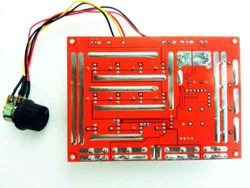 10-50V 60A DC Motor Speed Control PWM Hho RC Controller 12V 24V 48V 3000W Max (Merah Board)