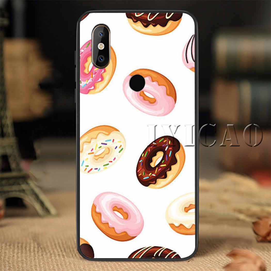 Fries Donuts Pizza Eten Zachte Siliconen Telefoon Case voor Redmi Note 4X5 6 7 8 5 6 7 8 Pro 5A 16G 32G 64G 5A Prime Cover