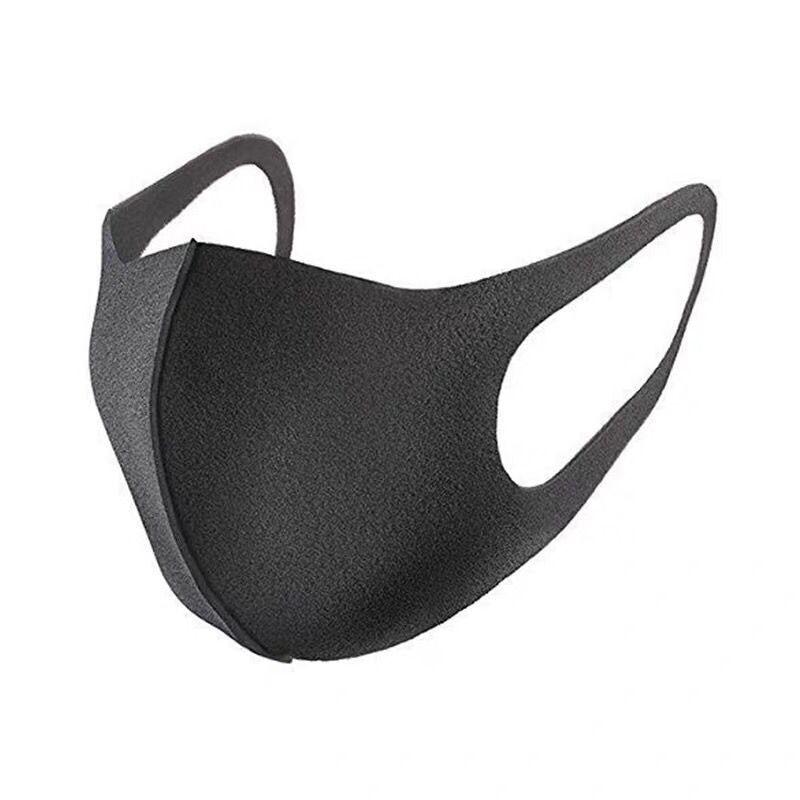 6 pièces lavable Earloop visage masque respiratoire cyclisme Anti poussière environnement bouche masque respirateur mode noir masque
