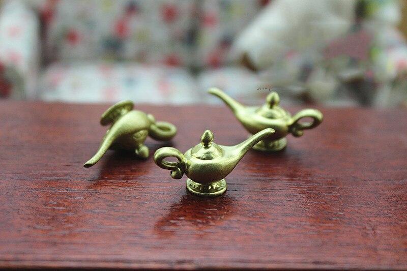 Dollhouse Miniature Mini Gold Teapot Toy Model Kids Gift RKCA