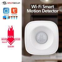 Sensor de movimiento PIR, Detector de movimiento WIFI, Sensor de movimiento, aplicación inteligente, sistema inalámbrico de seguridad para el hogar