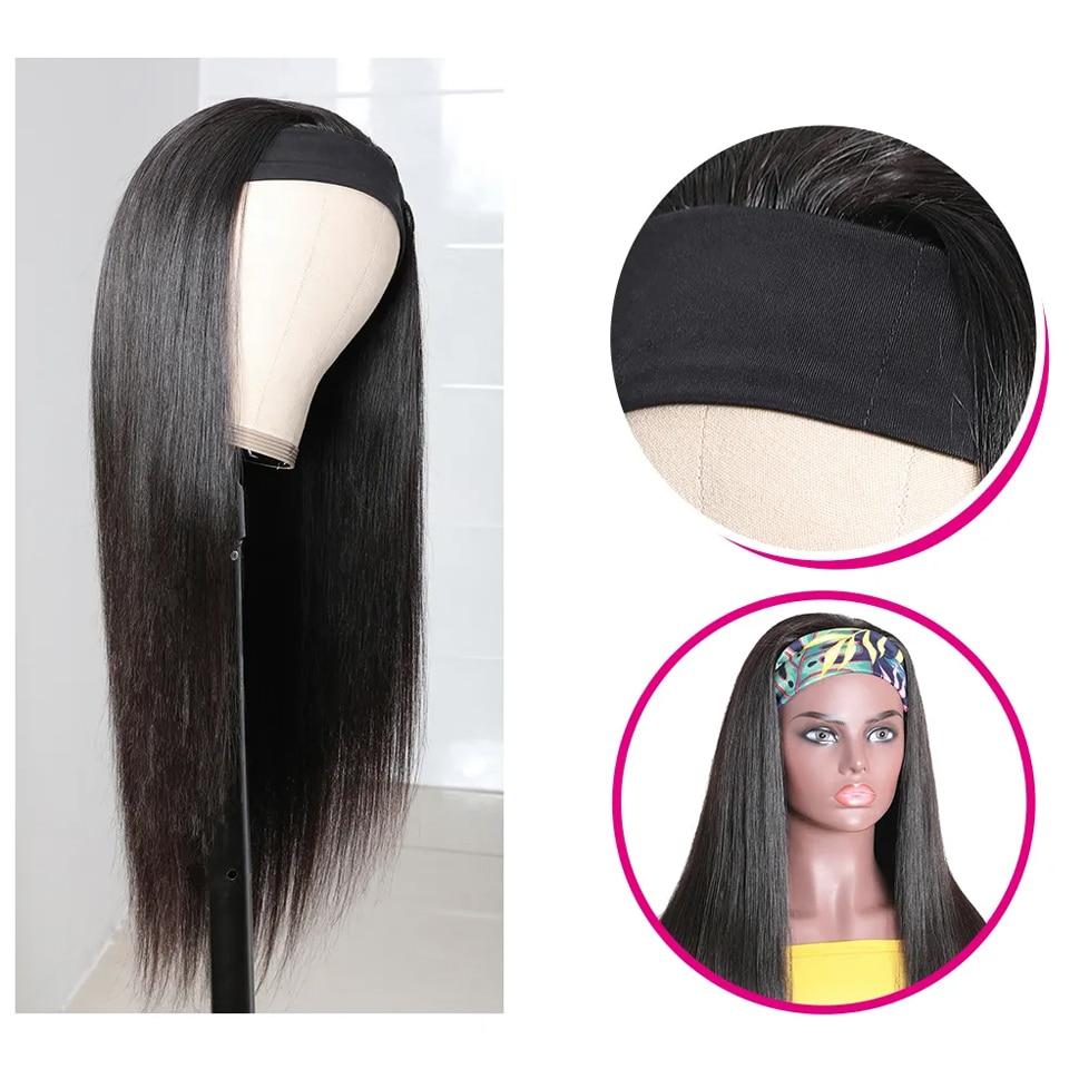 Sleek 30 Inch Headband Wig Human Hair Wigs 180 Density Glueless 100% Natural Remy Brazilian Hair Wigs For Women Straight Wigs