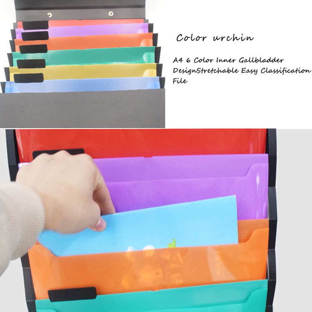 Hanging Organizer Wall Pocket Expanding File Folder  Paper File Folder Book Pencil Pen Case Portable Document A4 Letter Holder