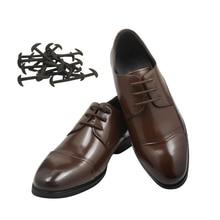 12 Pcs 3 Sizes Men Women Leather Shoes Lazy No Tie Shoelaces Elastic Silicone Shoe Lace Casual Sport Laces Drop Shipping