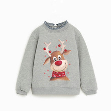spot wholesale guard clothing parent-son lovely elk Christmas hot painting sticker DIY hot transfer clothing hot hot painting