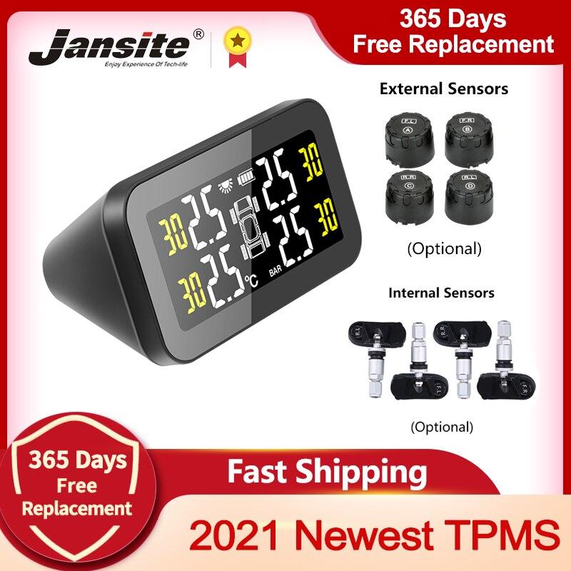 Jansite TPMS автомобильный датчик давления в шинах интеллектуальная система на солнечной энергии светодиодный дисплей Автомобильный Монитор си...