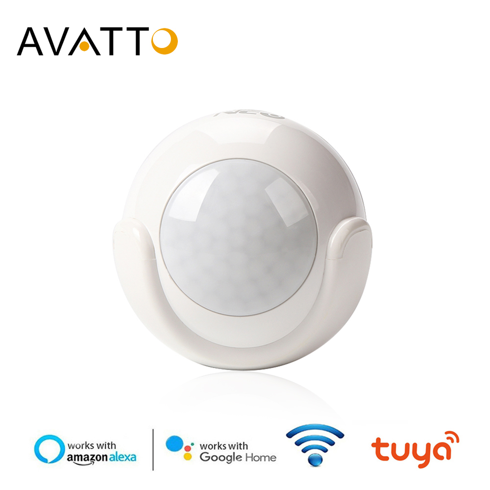 AVATTO Wifi Motion Sensor,Wireless Infrared Burglar Alarm System PIR Motion Dectector Work With Tuya APP Control Smart Home
