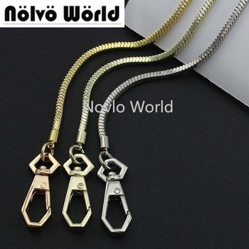 1-5-10 pieces,High level 100% copper 3mm wide box chain, total 116-120cm with ends 2 hooks copper snake chain image