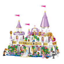 Friends Princess Windsors Castle Girl Series Assembled Building Blocks DIY Model Compatible Girl Princess Sets Kids Toy Gift qwz 86pcs girl s pink dream princess castle model large particles building blocks bricks kids diy toy compatible with duplo