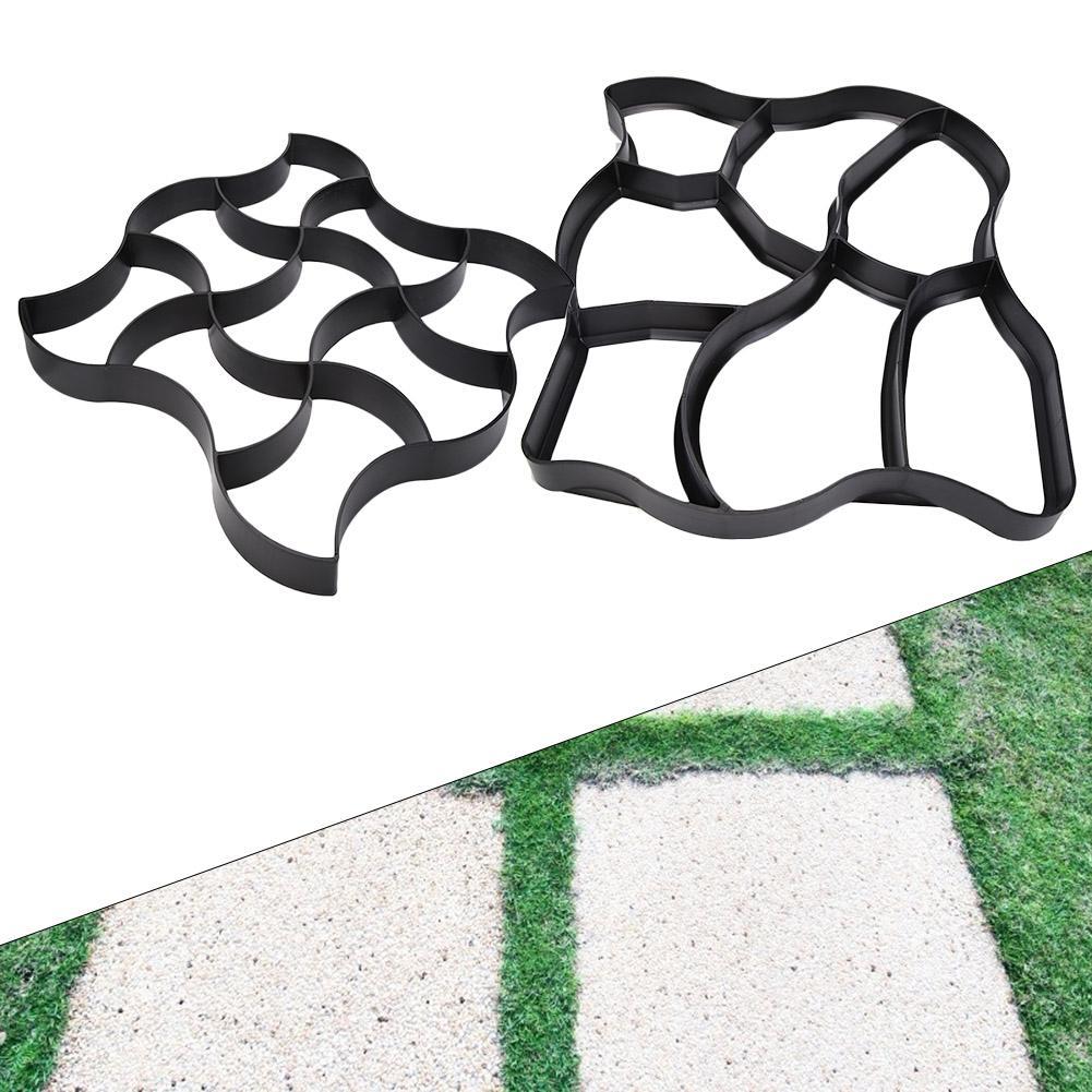 cheapest The Garden Stone Road Concrete Molds  Pavement Mold DIY Plastic Path Maker Mold Manually Paving Cement Brick Molds B 50 50 4 4cm