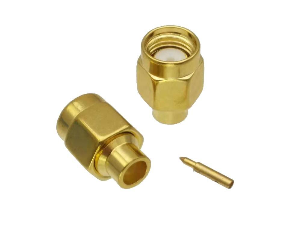 SMA Male Plug Solder Semi-rigid RG402 0.141