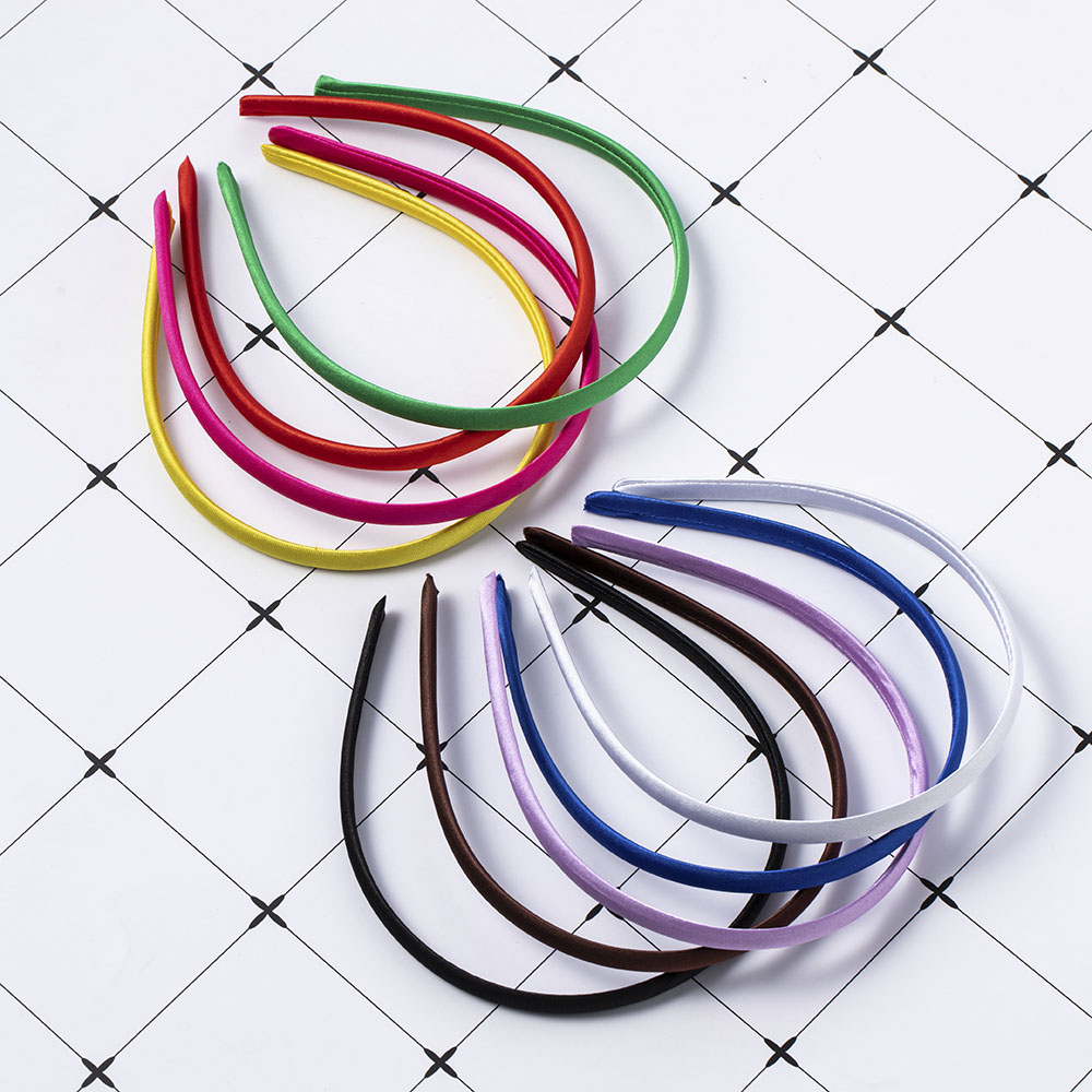 Simple Hair Accessories Satin Headband for Women Solid Color Plastic Hair Hoop Girls Hairbands Hair Band Wholesale