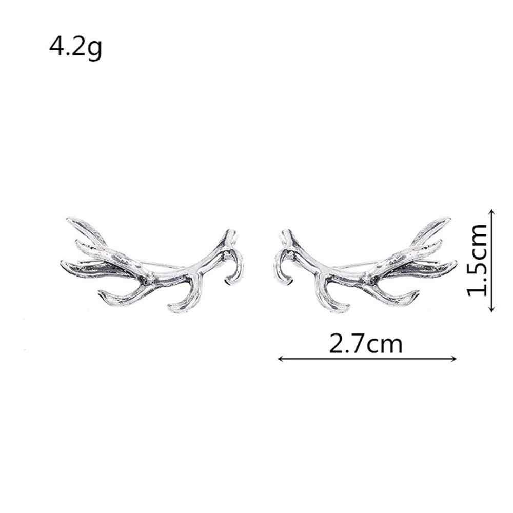 Kolczyki poroża Deer Earpin Boho Ear Crawler Wrap kolczyki wysokiej jakości czeski biżuteria prezent kolczyki stylowe Pendientes # ZA