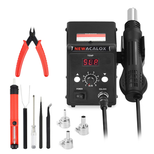 Image 3 - NEWACALOX EU/US 700W 납땜 스테이션 SMD 재 작업 스테이션 핫 에어 건 산업용 헤어 드라이어 히트 건 디 솔더링 용접 도구