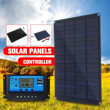 20W 12V 18V Panel słoneczny z zacisk baterii i 20A Solar ładowarka samochodowa kontroler wodoodporne ogniwa słoneczne na zewnątrz Camping piesze wycieczki