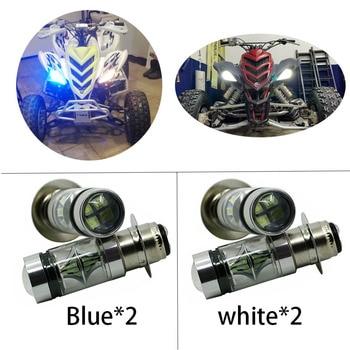 2X Super White LED Headlights Bulbs Low High Beam 100W For Yamaha GRIZZLY 660 400 450 350 125 YFZ350 YFZ450 RAPTOR 350 700 RHINO