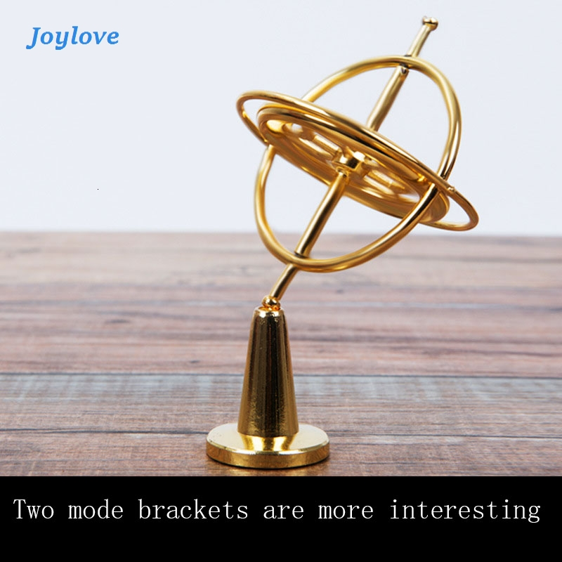 JOYLOVE Scientific Educational Metal Finger Gyroscope Gyro Top Pressure Relieve Classic Toy Traditional Learning Toy For Kids