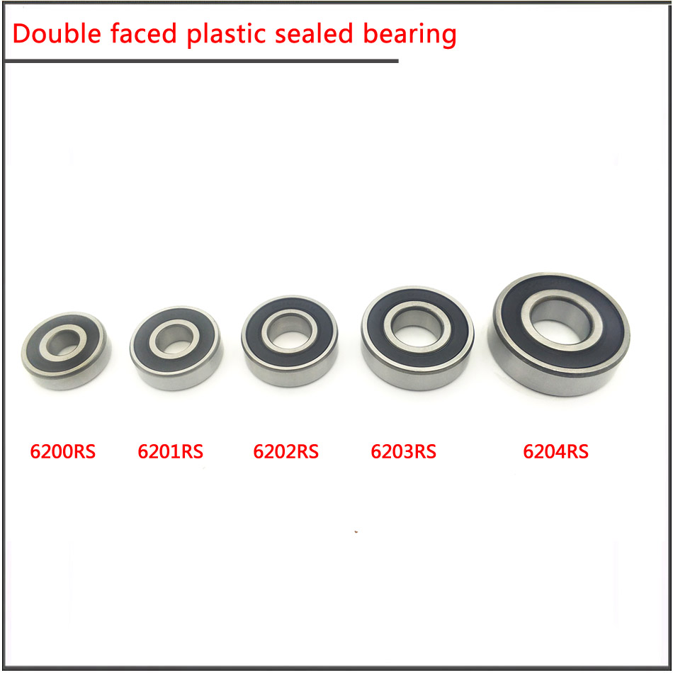 25pcs F698-2RS Flanged Metal Rubber Sealed Ball Bearing F698RS 8x19x6 mm