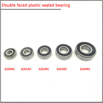 10Pcs/set 6200 6201 6202 6203 6204 6205RS High speed double-sided plastic sealed deep groove ball bearing Main bearing of motor 6200 12zz 6200 12 2z 12309 high quality non standard ball bearing 12 30 9 mm no standard 6200zz 6200 electric bike 12x30x9 mm