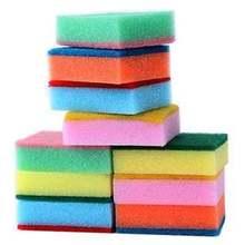 10 шт чистящие кухонные губки принадлежности для ванной комнаты